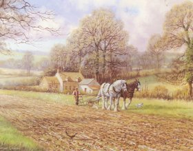 Ploughing In Autumn by Spencer Coleman
