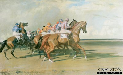 Under Starters Orders by Sir Alfred Munnings.