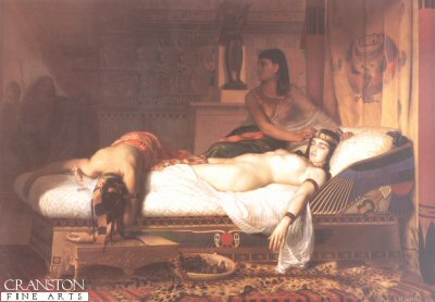 The Death of Cleopatra by Jean Andre Rixens.