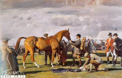 The Red Prince Mare by Sir Alfred Munnings.