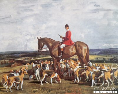 Stanley Barker and the Pytchley Hounds by Sir Alfred Munnings.