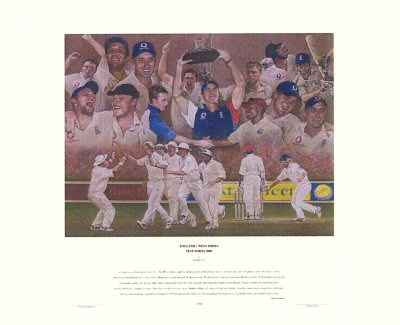 England v the West Indies by Stephen Doig.
