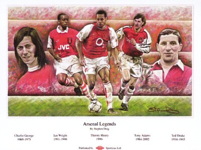Arsenal Legends by Stephen Doig.
