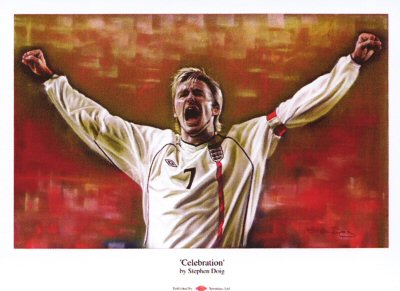 David Beckham - Celebration by Stephen Doig.