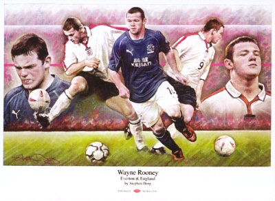 Wayne Rooney by Stephen Doig