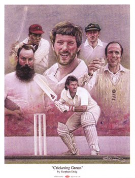 Cricketing Greats by Stephen Doig.