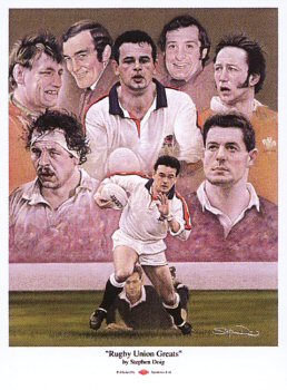 Rugby Union Greats by Stephen Doig