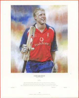 Andrew Flintoff by Stephen Doig.