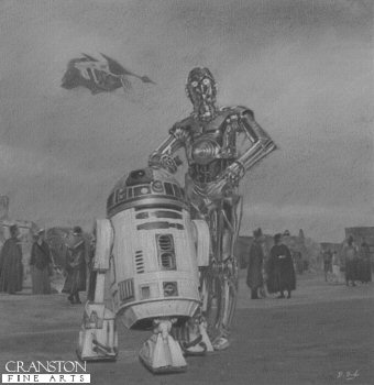 R2D2 and C3PO by Darren Baker. (P)
