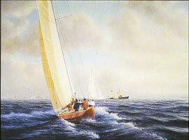 Australia II v Liberty by Tim Thompson