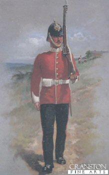 UN014.  East Lancashire Regiment by Harry Payne. <b><p>Open edition prints. <p> Image size 7 inches x 12 inches (18cm x 31cm)