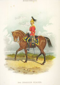 2nd Dragoon Guards by Richard Simkin.