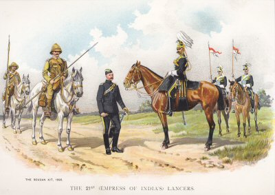 The 21st (Empress of Indias) Lancers by Richard Simkin.