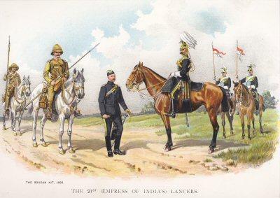 The 21st (Empress of Indias) Lancers by Richard Simkin.