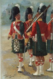 UN035.  Argyll and Sutherland Highlanders by Harry Payne. <b><p>Open edition print. <p> Image size 7 inches x 12 inches (18cm x 31cm)