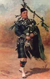UN052. Piper, Argyll and Sutherland Highlanders by Harry Payne. <b><p>Open edition print. <p> Image size 7 inches x 12 inches (18cm x 31cm)