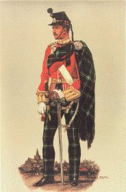 Highland Light Infantry Officer Review Order 1914 by Haswell Miller