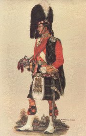 Gordon Highlanders Officer Review Order 1914 by Haswell Miller
