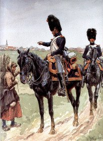 UN116. Garde Imperiale Grenadiers a Cheval - Jeune-Garde 1813-1814 by L Rousselot. <p>Copyright Anne S K Brown Collection, who gave permission for 1000 copies to be produced.<b><p> Open edition print. <p> Image size 8 inches x 12 inches (20cm x 31cm)