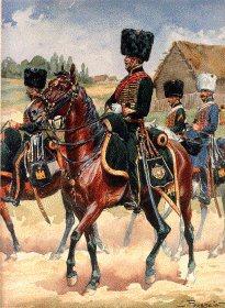 Grande Imperiale - Chasseur a Cheval 1805-1815- Officier, Cavaliers et Trompette, Tenue de Campagne 1812 by L Rousselot
