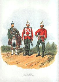 Royal Scots by Richard Simkin.