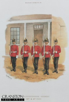 Gloucestershire Regiment by Richard Simkin.