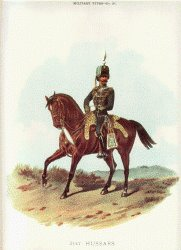 21st Hussars by Richard Simkin