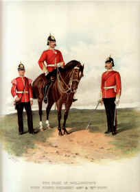Duke of Wellington's West Riding Regiment by Richard Simkin.