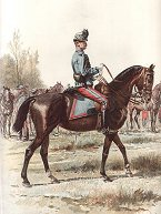 Officier de Hussards - Grande Tenue by Edouard Detaille.