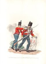 An Officer & a Private of the 52nd Regiment of Infantry by J C Stadler after Charles Hamilton Smith.