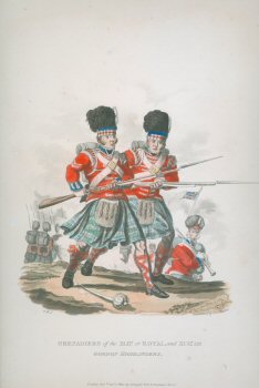 Grenadiers of the XLII or Royal, and XCII or Gordon Highlanders