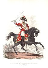 Officer, 2nd Regiment of Life Guards in Full Dress by J C Stadler after Charles Hamilton Smith.