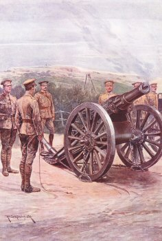 The Royal Artillery by Richard Caton Woodville. (P)