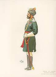 Officer 3rd Lancers - Hyderbad Contingent by John Charlton (1897) (Y)