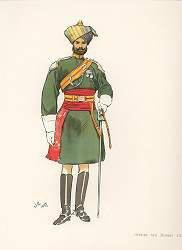 Officer 6th Bombay Cavalry by John Charlton (1897)