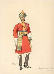 UN0433Y. Officer 7th Bengal Cavalry by John Charlton (1897) <p> <p><b>Ex display prints in near perfect condition. </b><b><p>**Open edition print. (3 ex display copies reduced to clear) <p> Image size 8 inches x 12 inches (20cm x 31cm)