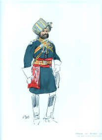 Officer 1st Bombay Lancers by John Charlton (1897) (Y)