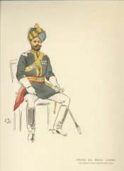 Officer 2nd Bengal Lancers by John Charlton (Y)