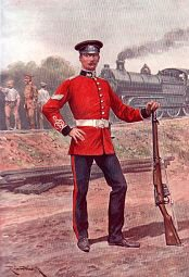 The Royal Engineers, Railway Battalion by Richard Caton Woodville (P)