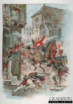 Death of Colonel Philips Cameron at Fuentes dOnoro 1811 by Harry Payne (P)