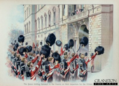 The Queen Bidding Farewell to the Guards on their Departure for the Crimea, 1854 by Harry Payne.