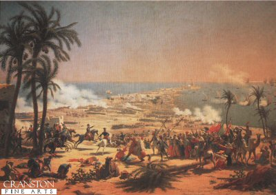 Battle of Aboukir Bay 25th July 1798 by Louis Lejeune.