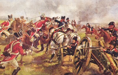The 1st Kings Dragoon Guards at Cateau, 25th April 1794 by Harry Payne.