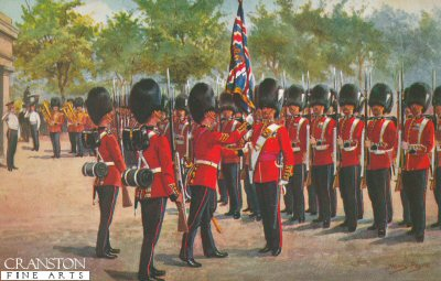 The Grenadier Guards at Wellington Barracks by Harry Payne.