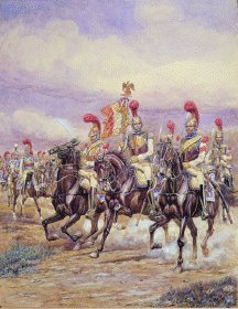 La Garde a LEtendard du ler Regiment de Carabiniers by Benigni.