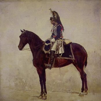 Officier de Cuirassier by Jean Louis Ernest Meissonier.
