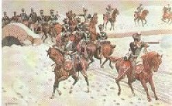 10th Hussars, Retreat from Corunna by Richard Simkin.
