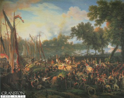 Passage du Rhine Dusseldorf, le 6th September 1795, by Louis Lejeune. (GM)