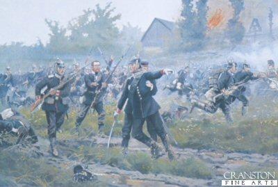 Prince Anton von Hohenzollern at Rosbertiz during the Austro-Prussian War, 3rd July 1866 by Richard Knotel.