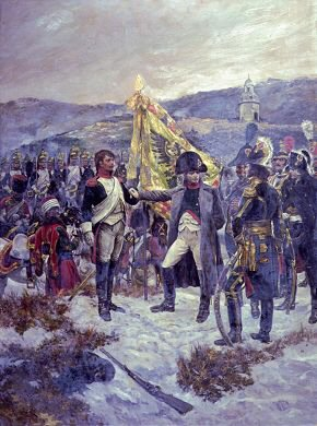 VAR281. Napoleon Awarding the Legion of Honour by Caton Woodville. <b><p>Open edition print. <p> Image size 8 inches x 12 inches (20cm x 31cm)